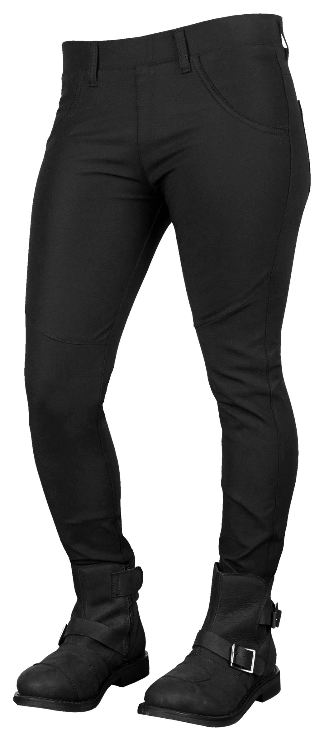 d1a92b2245414 What do you get when you cross a pair of yoga pants with aramid reinforced  riding denim? The Speed and Strength Comin' in Hot Yogamoto Jeans are a bre…