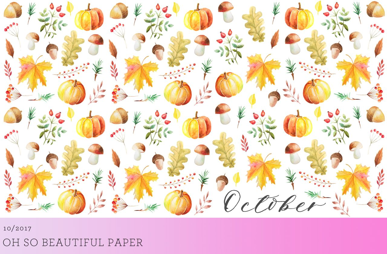 October Desktop Downloads Watercolor Desktop Wallpaper Fall