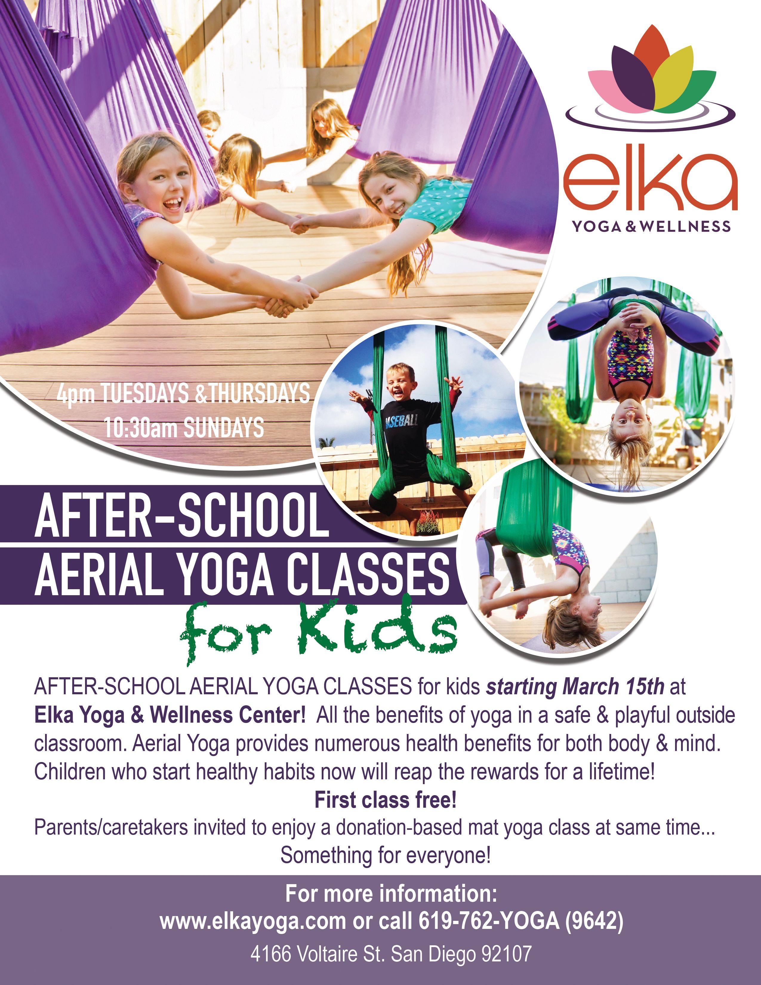 Kids Aerial Yoga Flyer Designed By Camila Badaro Aerial Yoga Kids Flyer Design Graphicdesign Sandiego Ins Yoga Flyer Kids Yoga Classes Yoga For Kids