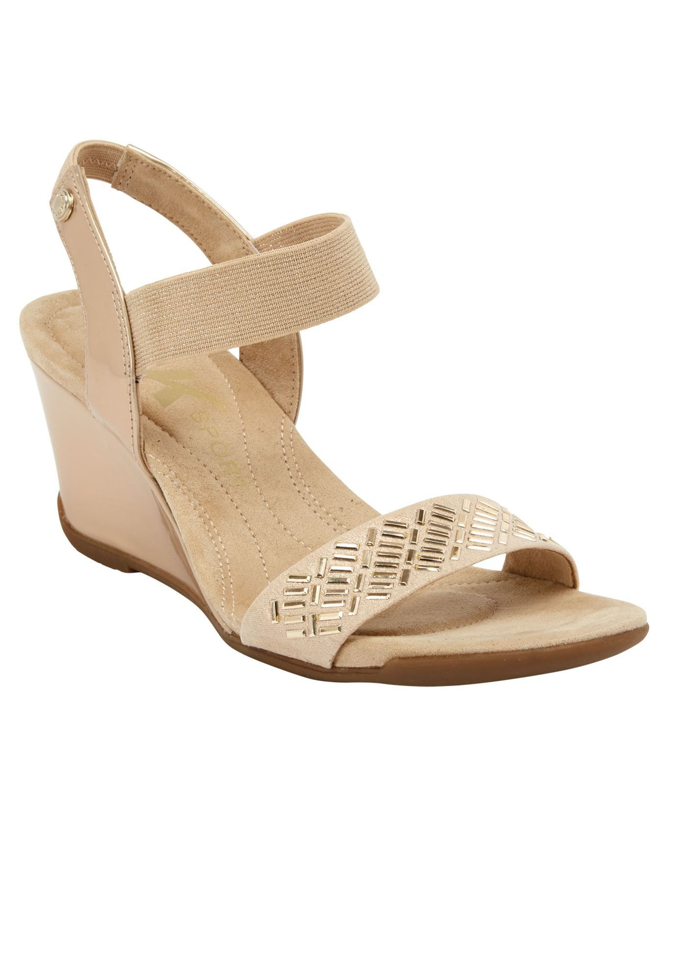 eabfd3ff04 Love Me Wedge Sandals by Anne Klein - Women's Plus Size Clothing ...