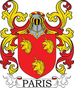 BUY COAT OF ARMS in YOUR NAME~! Paris Surname - Coat of Arms See ...