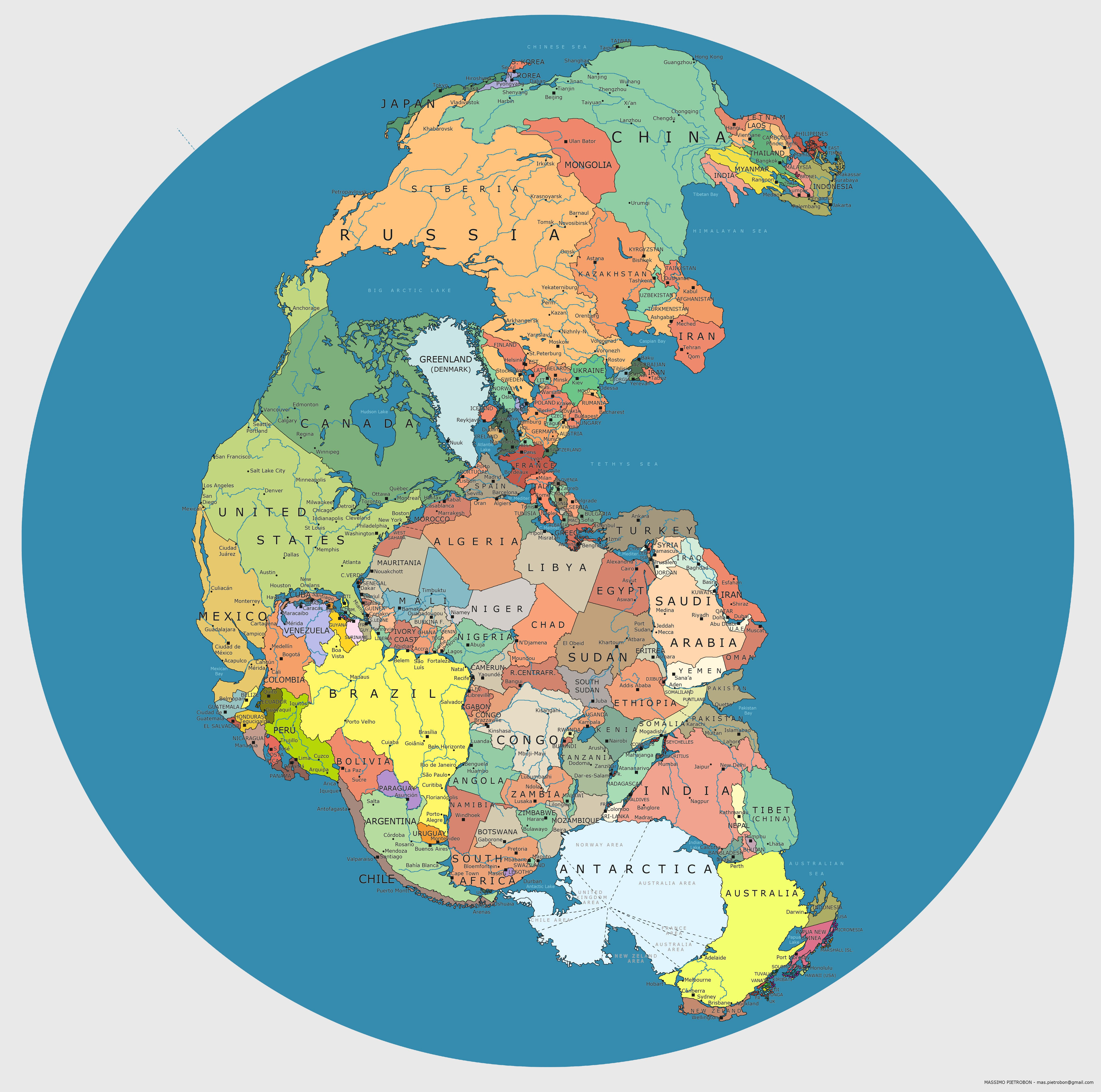 Map of pangea with current international borders mapmania pinterest explore world maps the front and more gumiabroncs Image collections