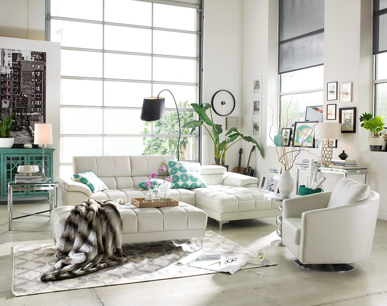 Fair and Square. Marvelously modern, the Sabrina sectional living ...