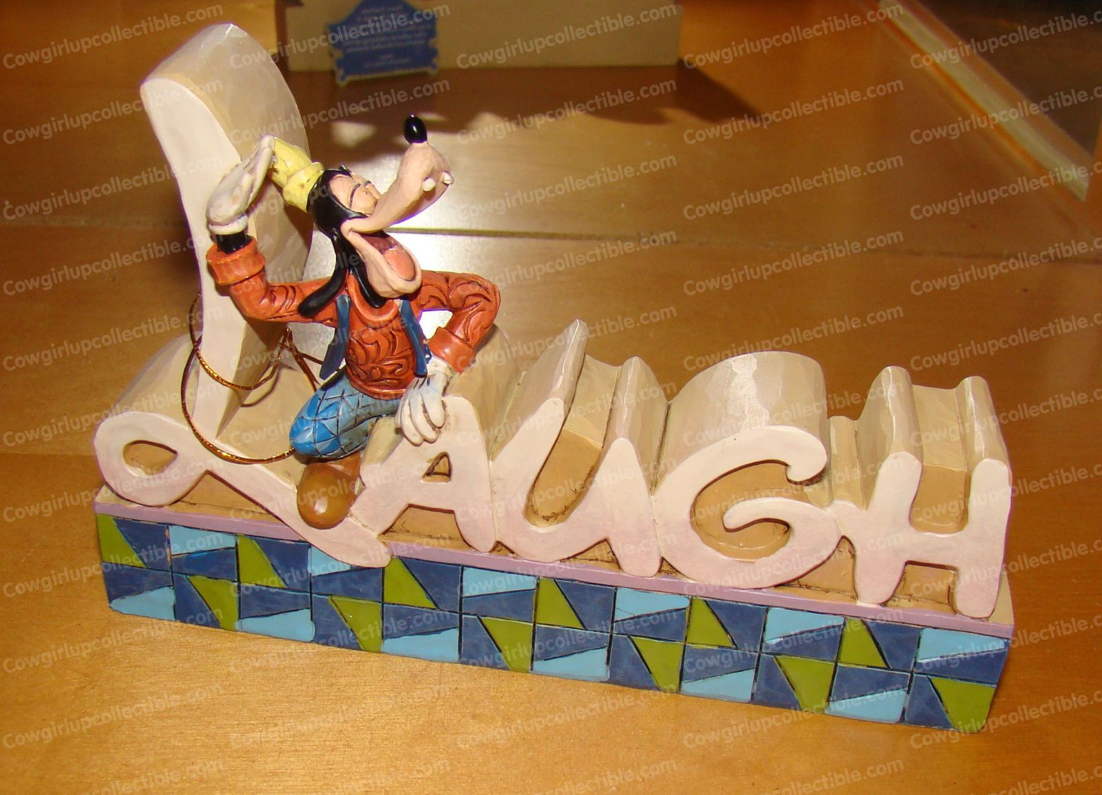 4032894 - Goofy LAUGH Plaque (Disney Traditions by Jim Shore)