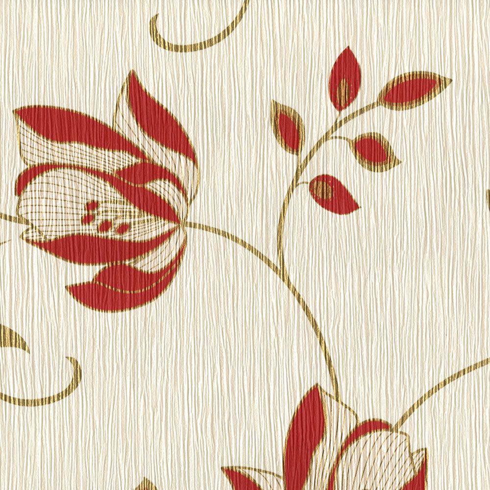 Superfresco Serene Wallpaper Red From Homebasecouk Lounge
