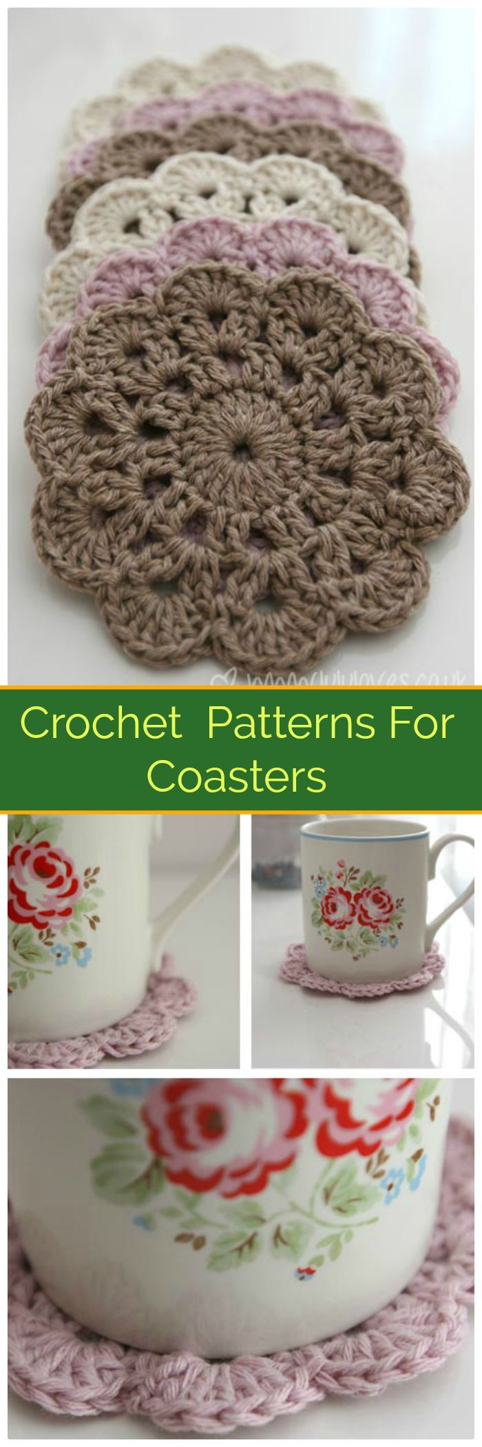 70 Easy Free Crochet Coaster Patterns for Beginners - Page 6 of 14 ...