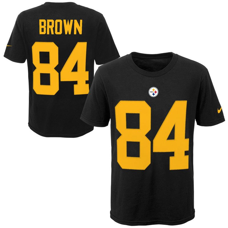 purchase cheap 9f737 59f37 Antonio Brown Pittsburgh Steelers Nike Youth Color Rush ...