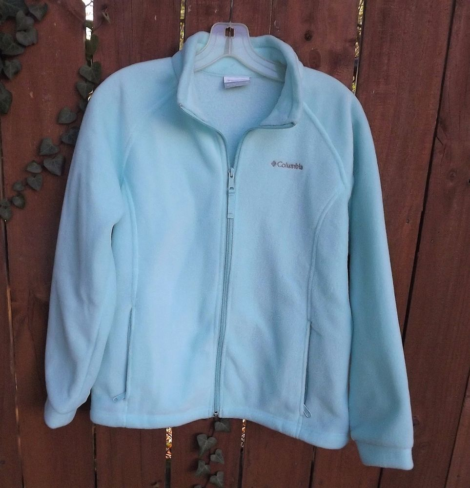 6ed5e11a37a1e Girls COLUMBIA Fleece Jacket Size 18 20 XL Light Blue Coat  Columbia  Jacket   OutdoorsEveryday