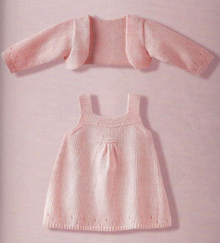 Kız Bebeklere Örgü Elbise Modelleri | Sweet dress, Free pattern and ...