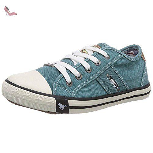 Femme GreenChaussures ShoesBaskets Pour Mustang Vert Mode nOkN8wZ0XP