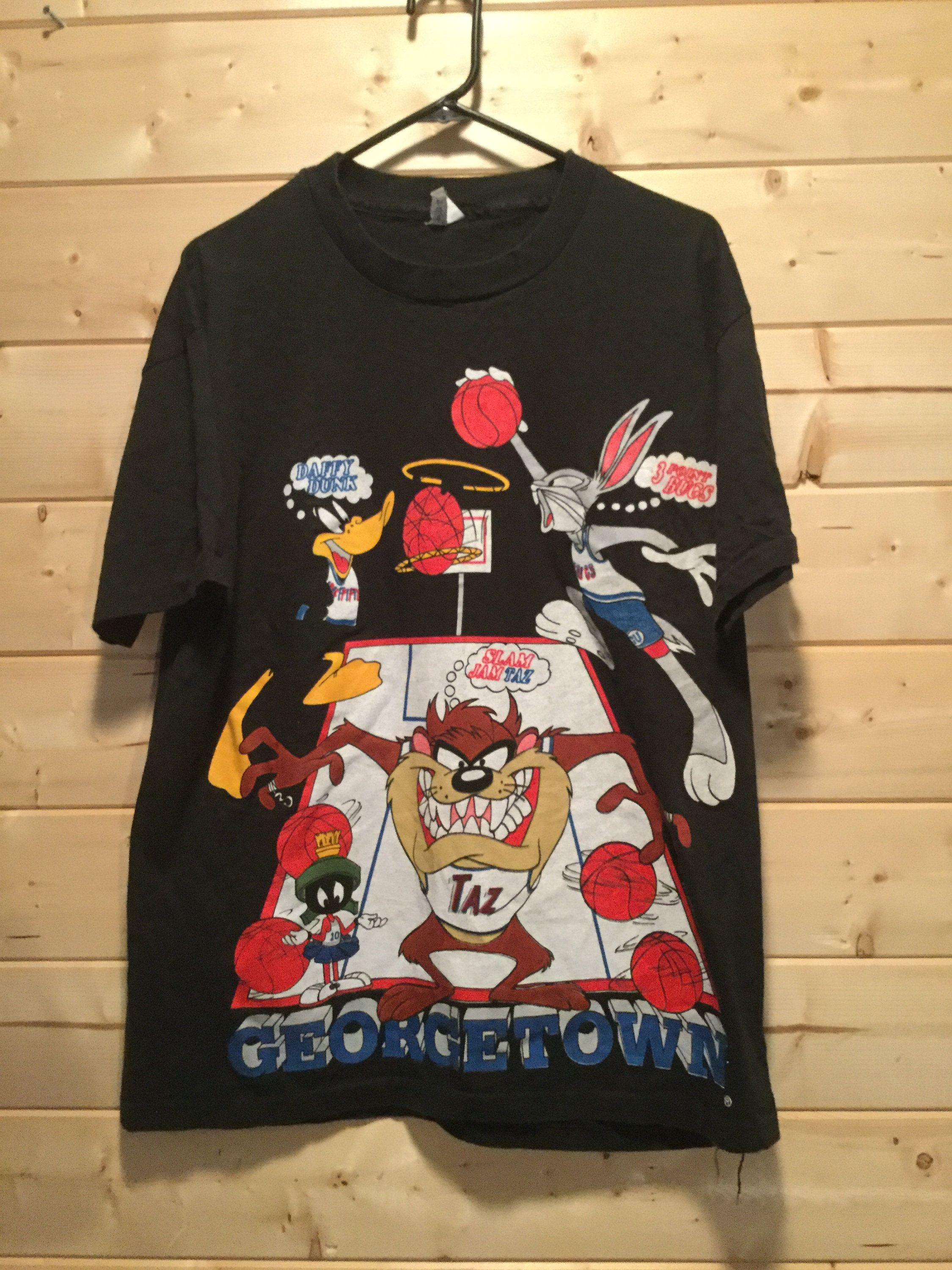 922ca0a2f2f2 Vintage 1993 Bugs Bunny Taz Daffy Duck Georgetown Hoyas Looney Tunes T-Shirt  Made in USA by 413productions on Etsy