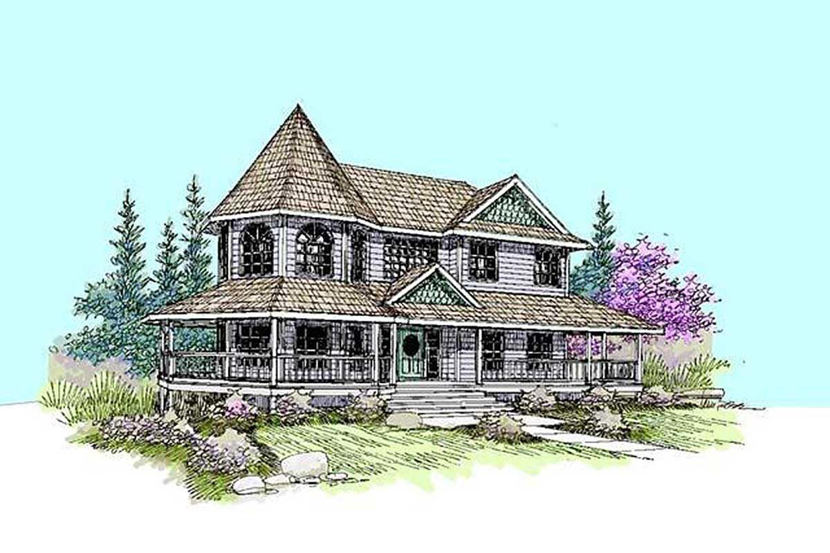 Plan 77376ld Victorian Treasure Shingle House Plans Country Style House Plans Victorian Homes