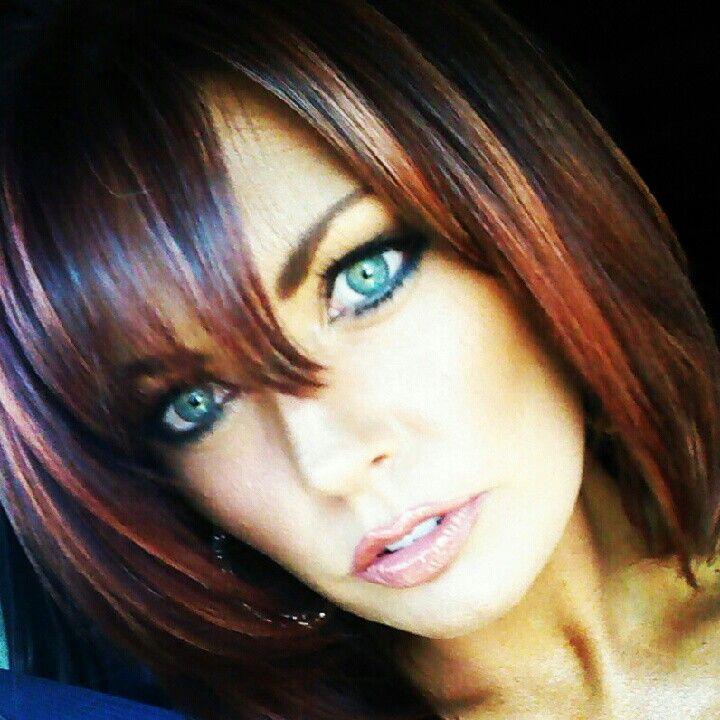 Pin by Wendy Maynard on Makeup & Nails | Black hair with ...