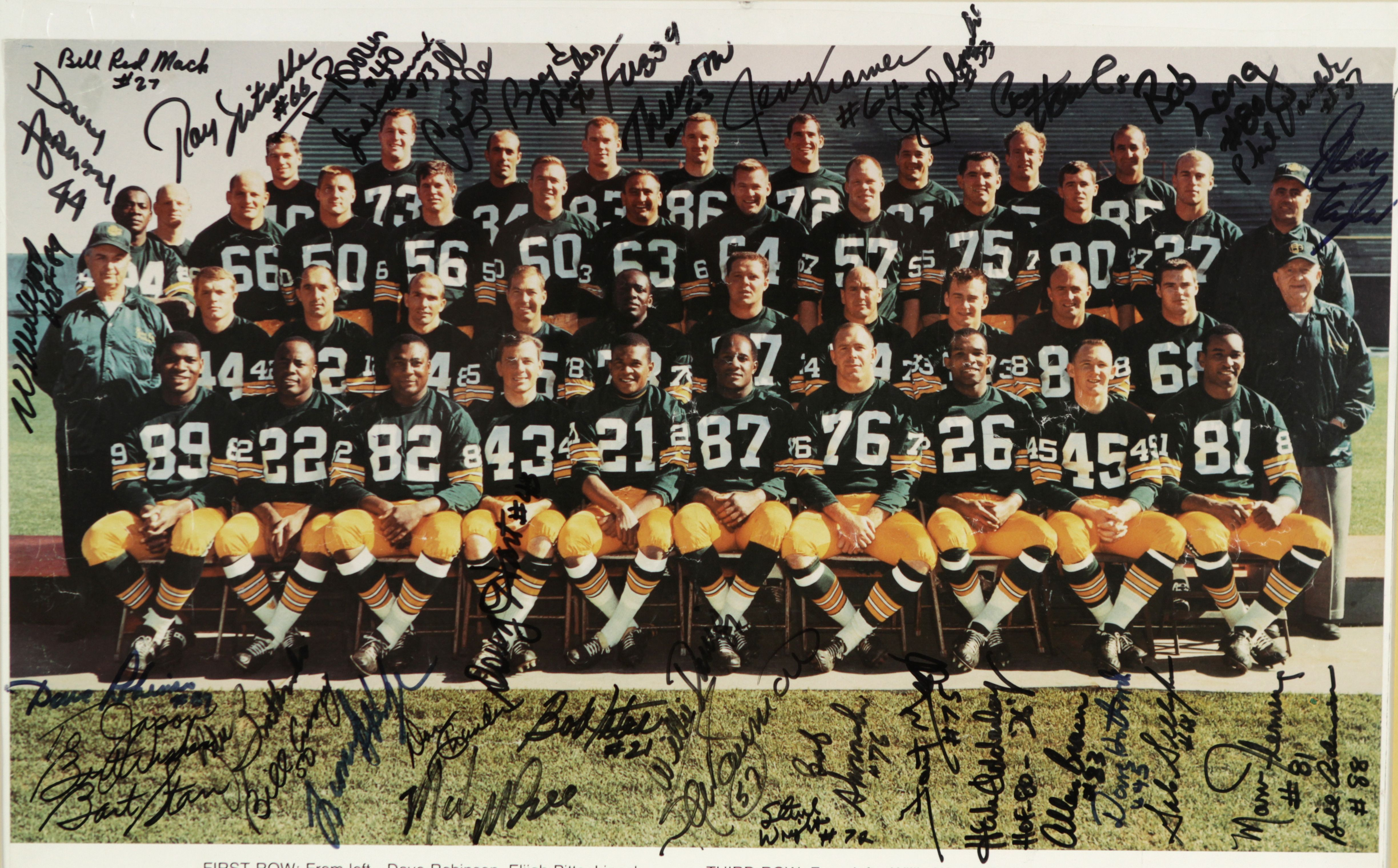 1966 Green Bay Packers Team Signed Poster Green Bay Packers Team Green Bay Packers Green Bay Packers Fans