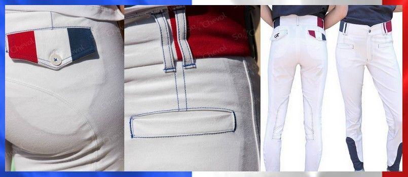 superior quality sneakers official pantalon d'equitation komutekir drapeau France pour cavalier ...