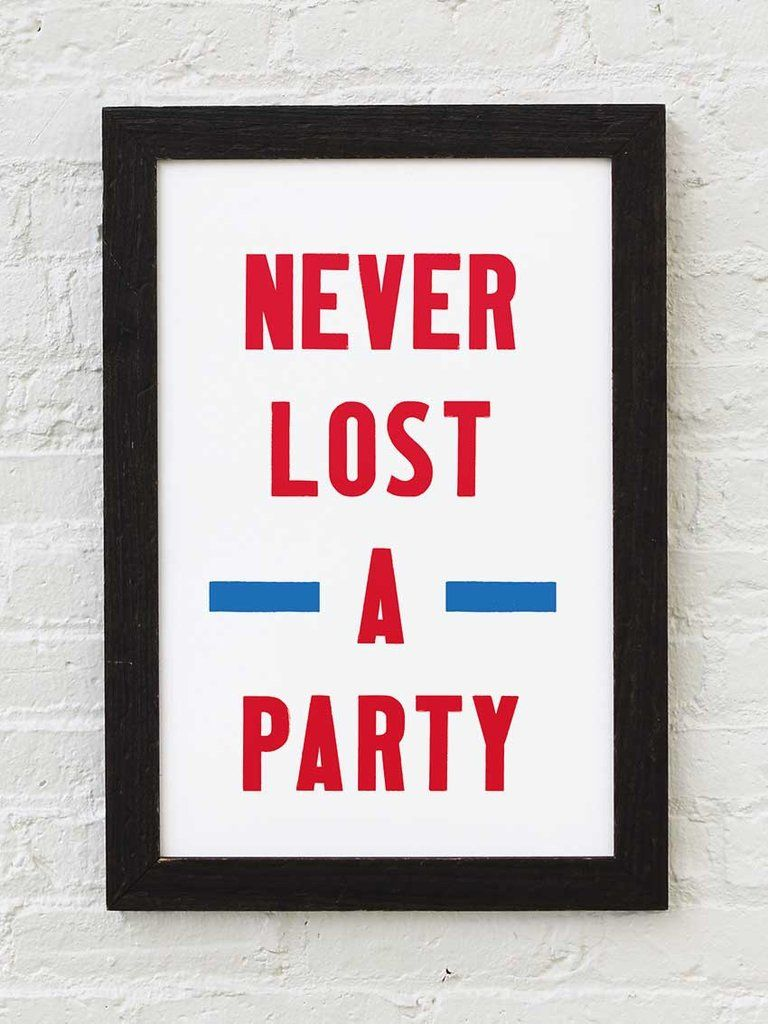 Never Lost A Party Ole Miss Letterpress Print Letterpress