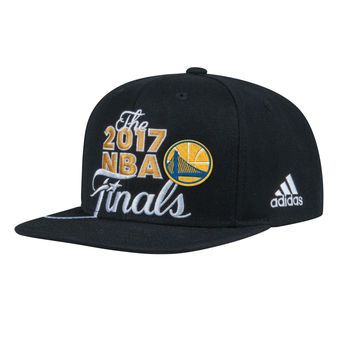 0f8540e3a5f16 ... get adidas golden state warriors black 2017 western conference champions  locker room snapback adjustable hat e335c