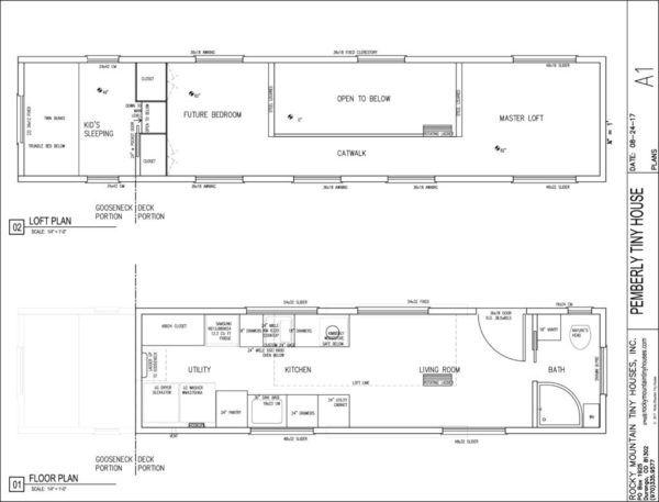 37 Gooseneck Tiny House On Wheels 460 Sq Ft Inside Tiny House Floor Plans House On Wheels Small Tiny House