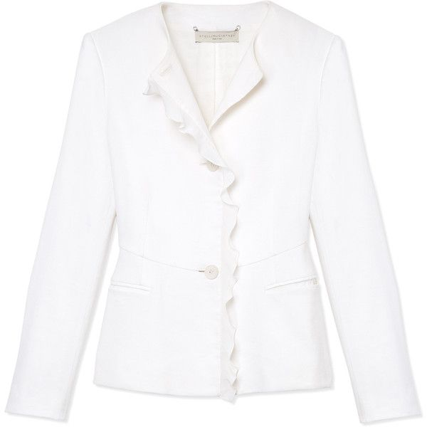Stella McCartney Ruffle Trim Jacket ($1,240) ❤ liked on Polyvore