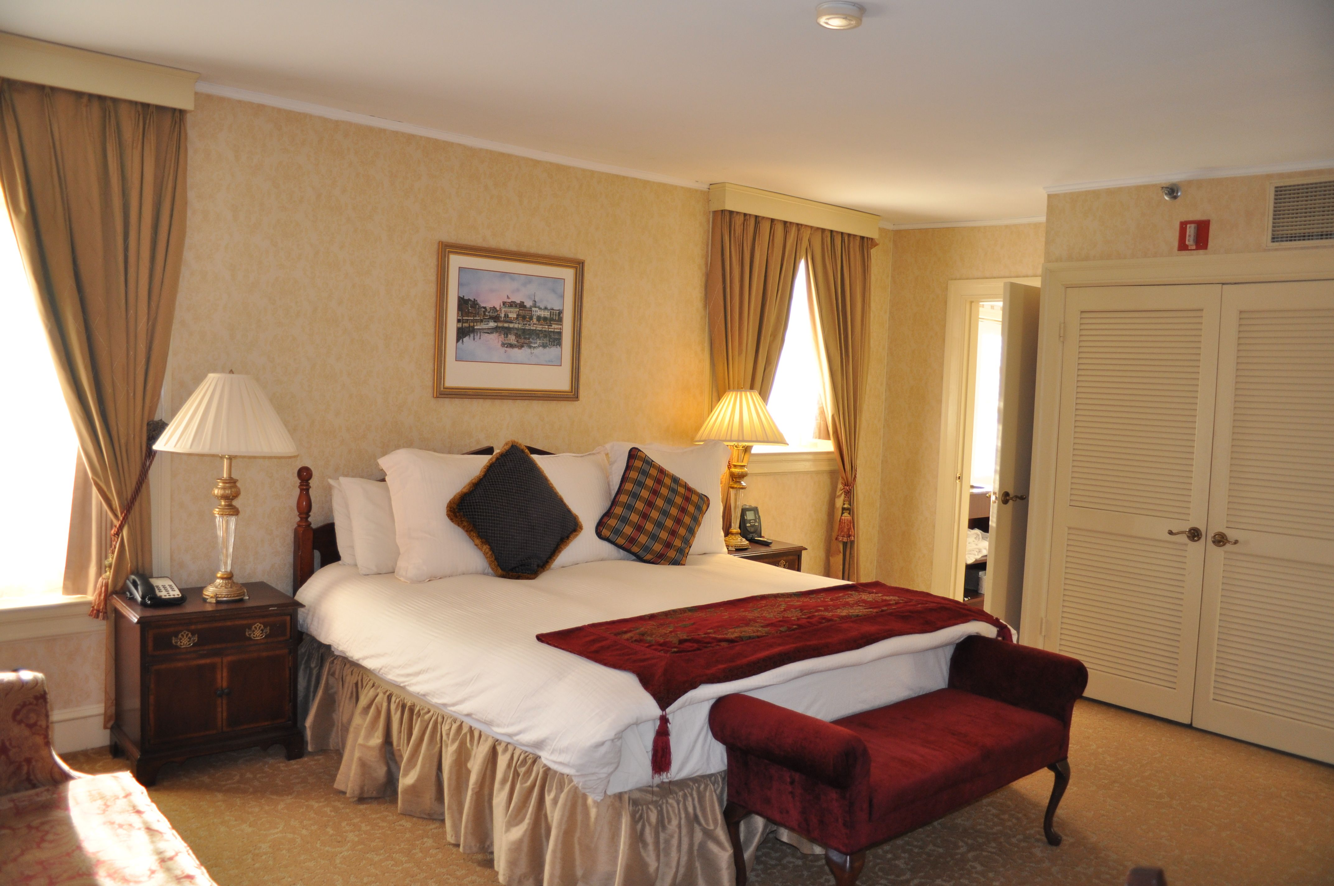 Charming Hotel Room in the Governor Calvert House -- Historic Inns of Annapolis