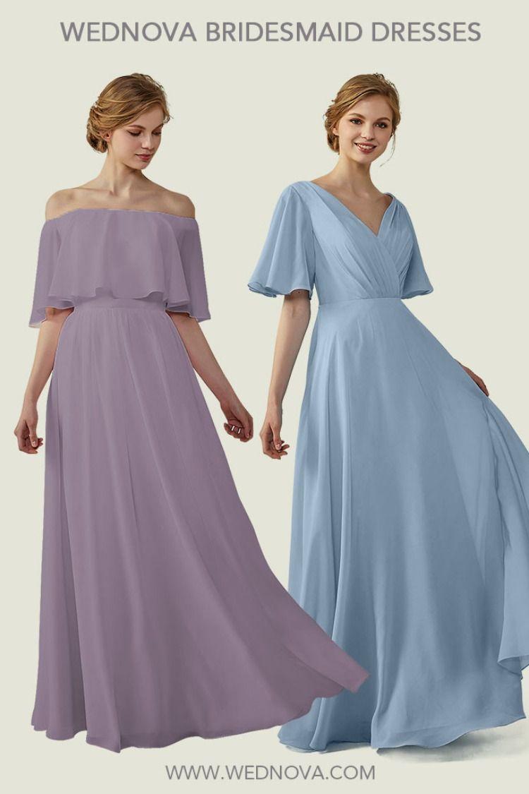 Bohemian Bridesmaid Dresses Mauve Long Dress Dusty Blue Dress Dusty Blue Bridesmaid Dresses Bridesmaid Dresses With Sleeves Bridesmaid Dresses Long Blue [ 1125 x 750 Pixel ]