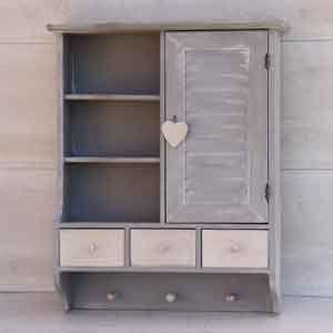 Petit meuble d 39 entr e en bois meuble bois d co romantique mobilier en bois blanc petit - Petit meuble en pin ...