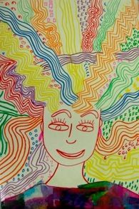 Crazy Hair I Would Use This As A Lesson On The Element Line Kindergarten Art Classroom Art Projects Art Lessons Elementary