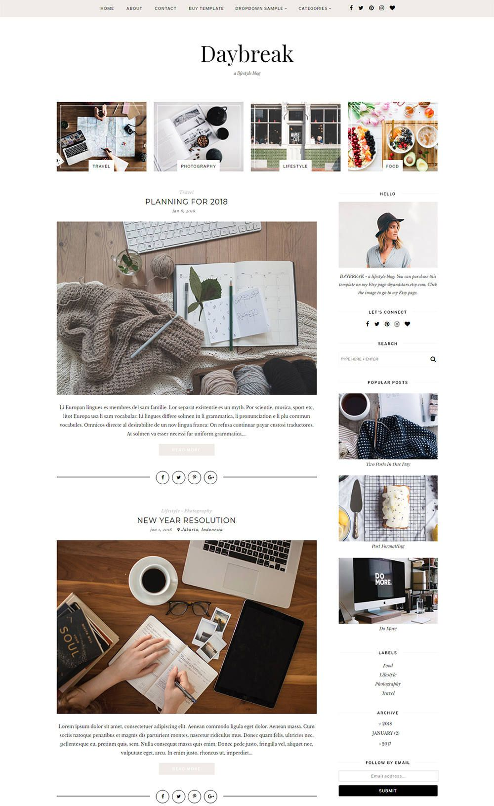 Premade Blogger Template - Responsive Mobile Blogger Template ...