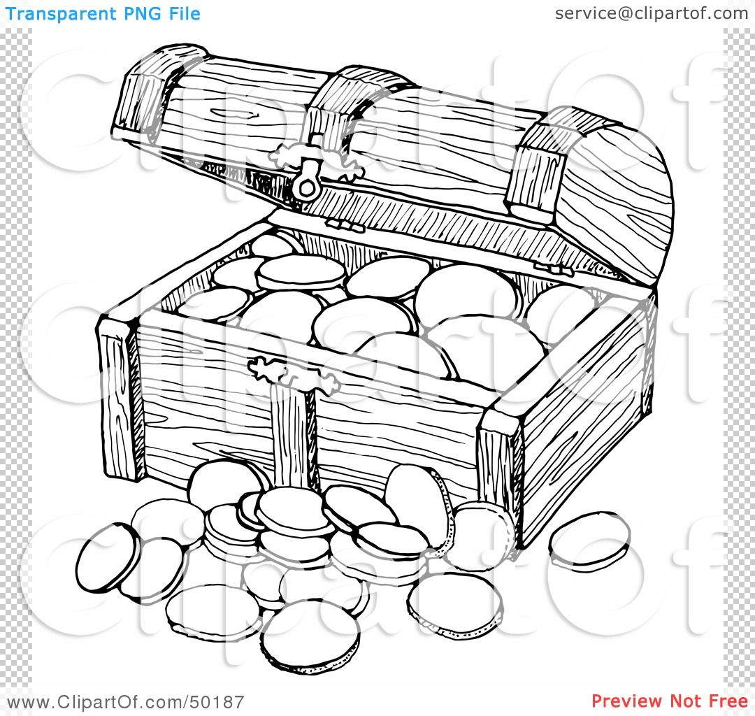 Free Treasure Coloring Pages