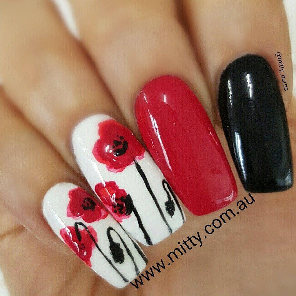 Popping Poppies: Tutorials – Mitty. Nail Art Tools & Brushes | nails ...