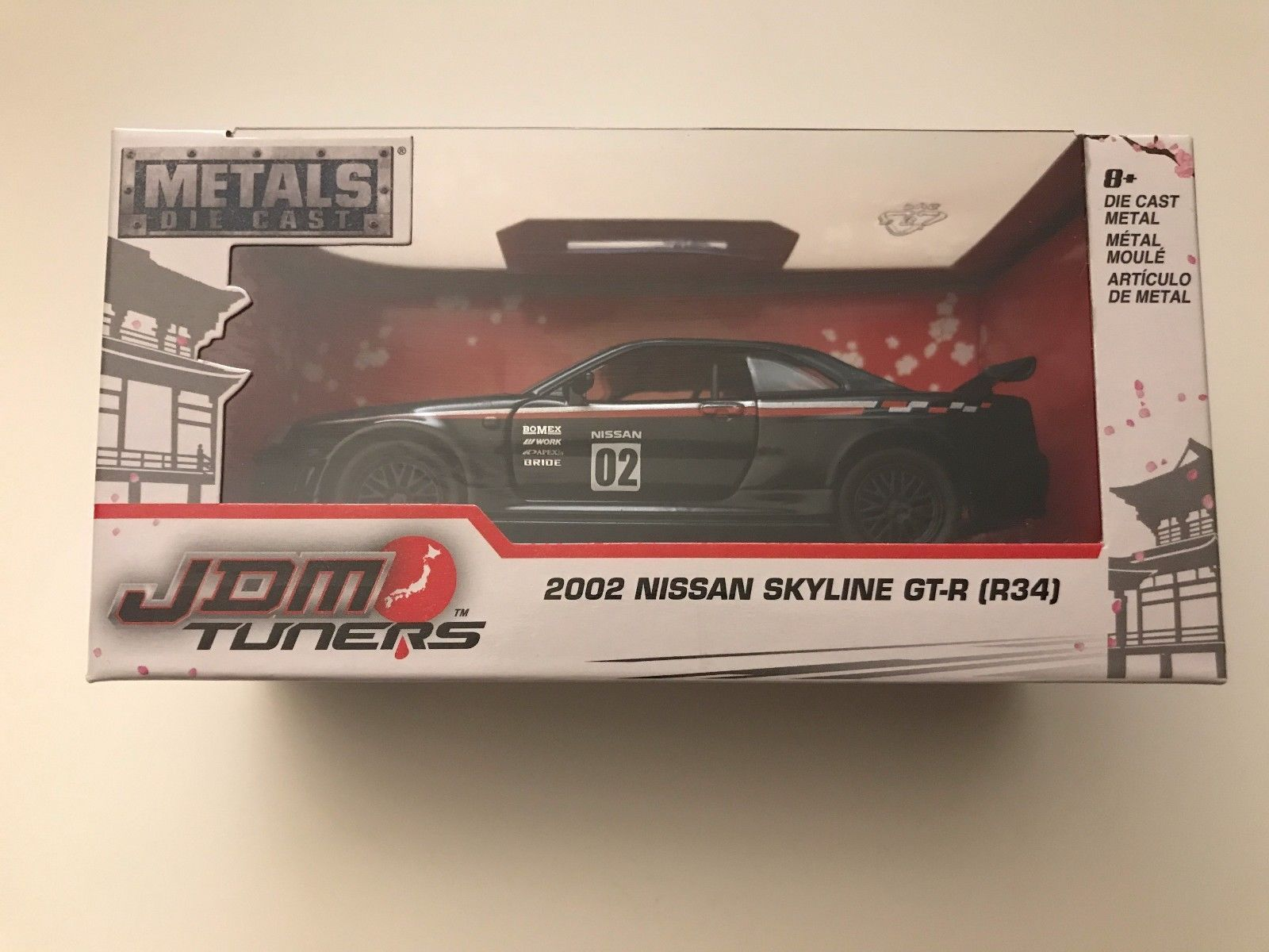 Jada car toys  Nice Amazing Jada Toys JDM Tuners  Black Nissan Skyline GTR R