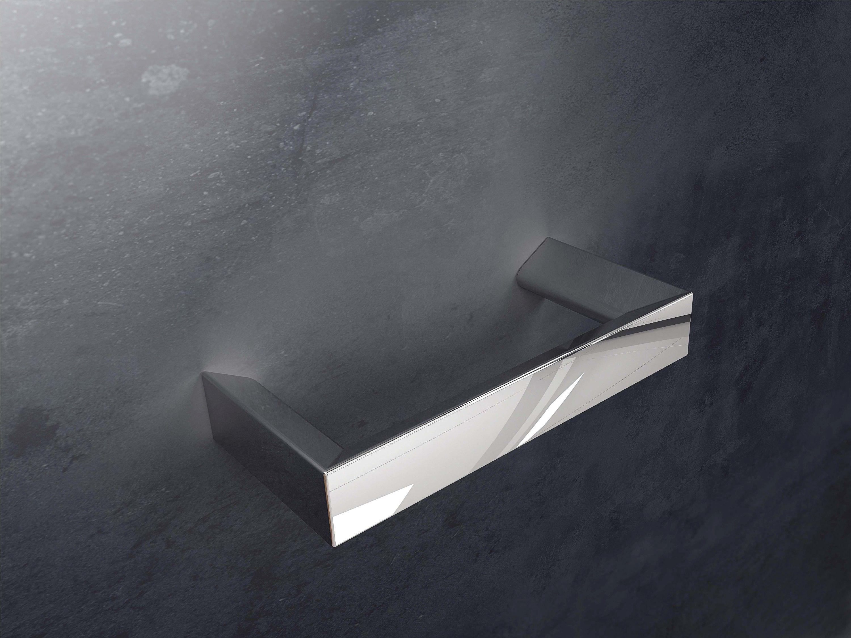 Toallero de barra de pared en latón cromado en distintas medidas. Modelo Suite. Accesorios para el cuarto de baño.