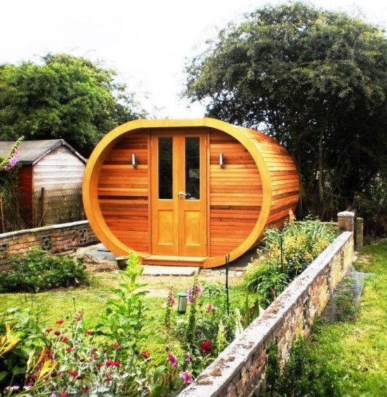 Wood clad garden pod more at for Outdoor pod room