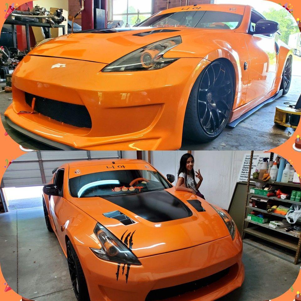 Lambo Orange 370z Nismo Lambo Coilovers