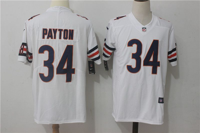06ac150a3 Men Chicago Bears 34 Payton White Nike Vapor Untouchable Limited NFL Jerseys