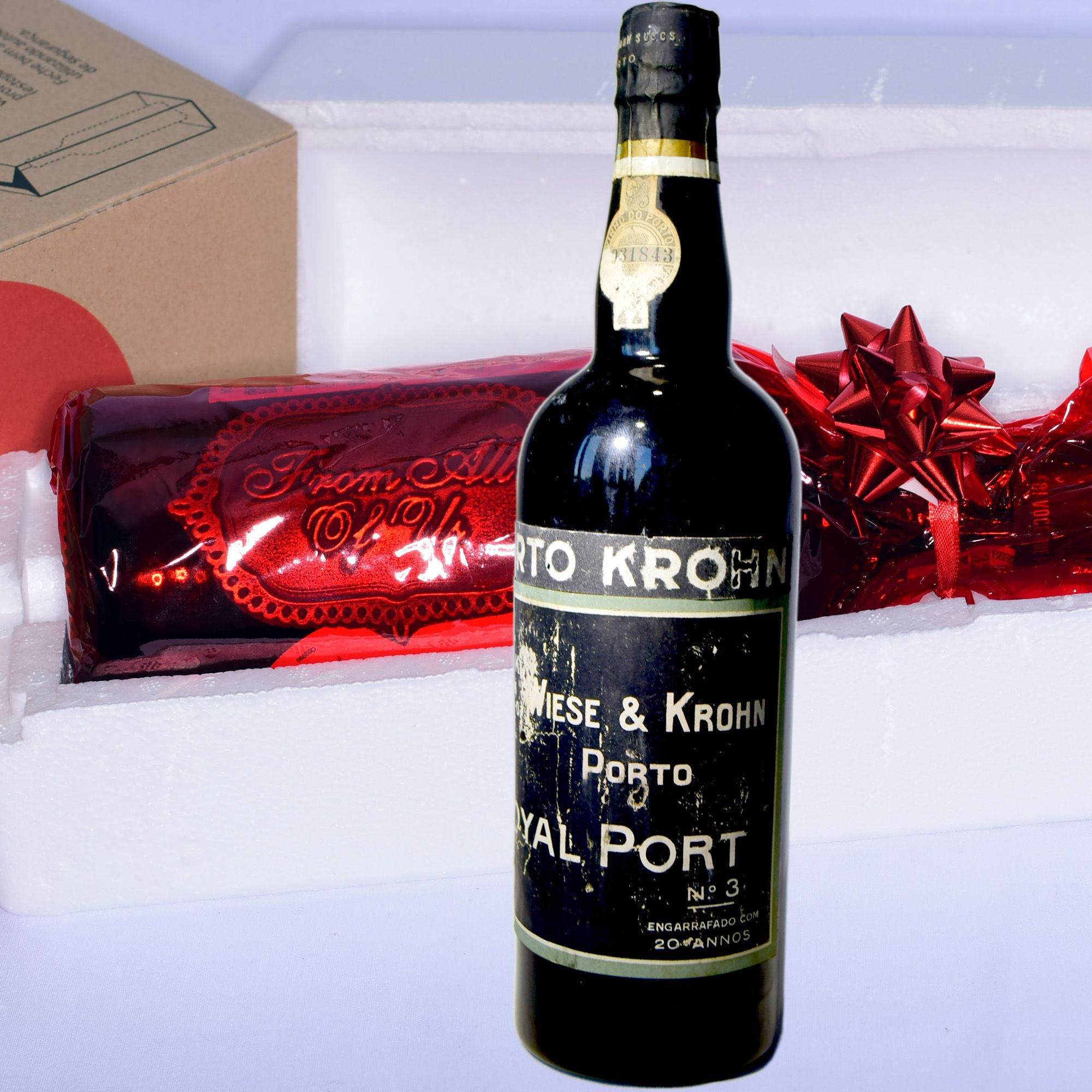20 Years Old Port Wine With 3d Sentiment Tag Gift Port Wine Old Bottles 20 Years Old