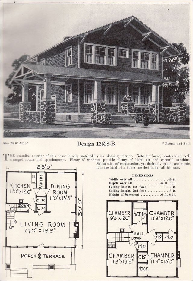 C 1923 c l bowes 12528 b like the 1920 shadow lawn for 1920 bungalow house plans