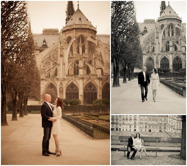 celebrating 3rd wedding anniversary in Paris © Juliane Berry Photography via French Wedding Style