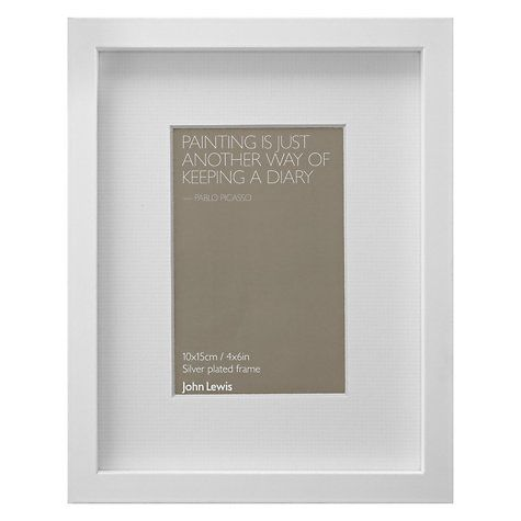 Buy John Lewis Box Frames & Mounts, White Online at johnlewis.com ...