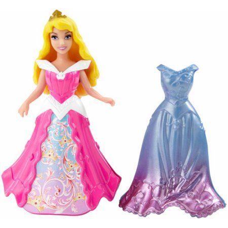 Disney Princess MagiClip Sleeping Beauty Doll with Fashion, Multicolor