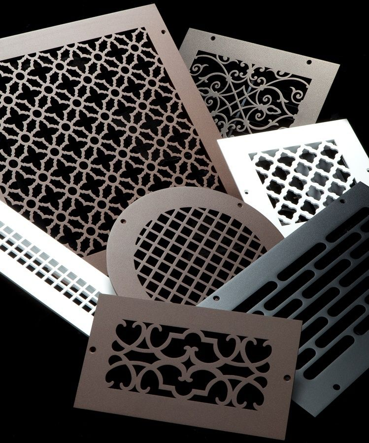 Victorian Floor Wall Registers Decorative Vent Cover Home Remodeling Steel Design