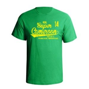 Super Cameroon Football World Cup Mens T-Shirt available @ http://www.world-cup-products-worldwide.com/super-cameroon-2014-football-world-cup-mens-t-shirt/