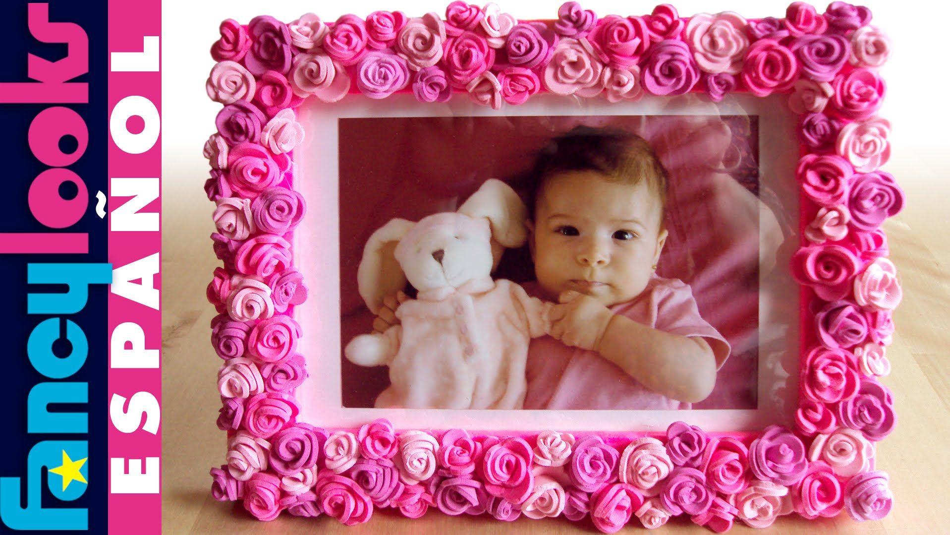 Marco de rosas de goma Eva | Rosas en goma eva, Como decorar un corazon, Goma  eva