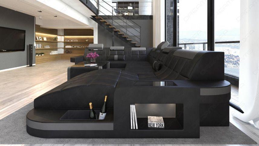 Designer Sofa Onda Xl Incl Led Light Aratta Modern U Shaped Sofa Sofa Design Contemporary Living Room Design