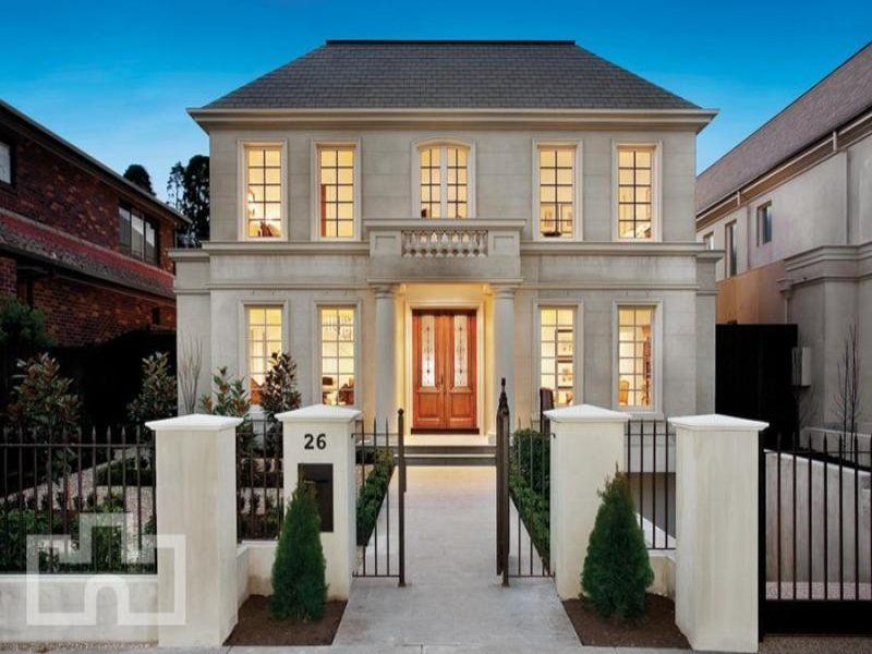 House facade ideas exterior house design and colours for Modern classic house