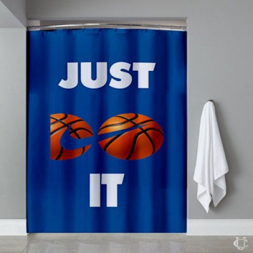 Just Do It Logo Basketball Special Shower Curtain
