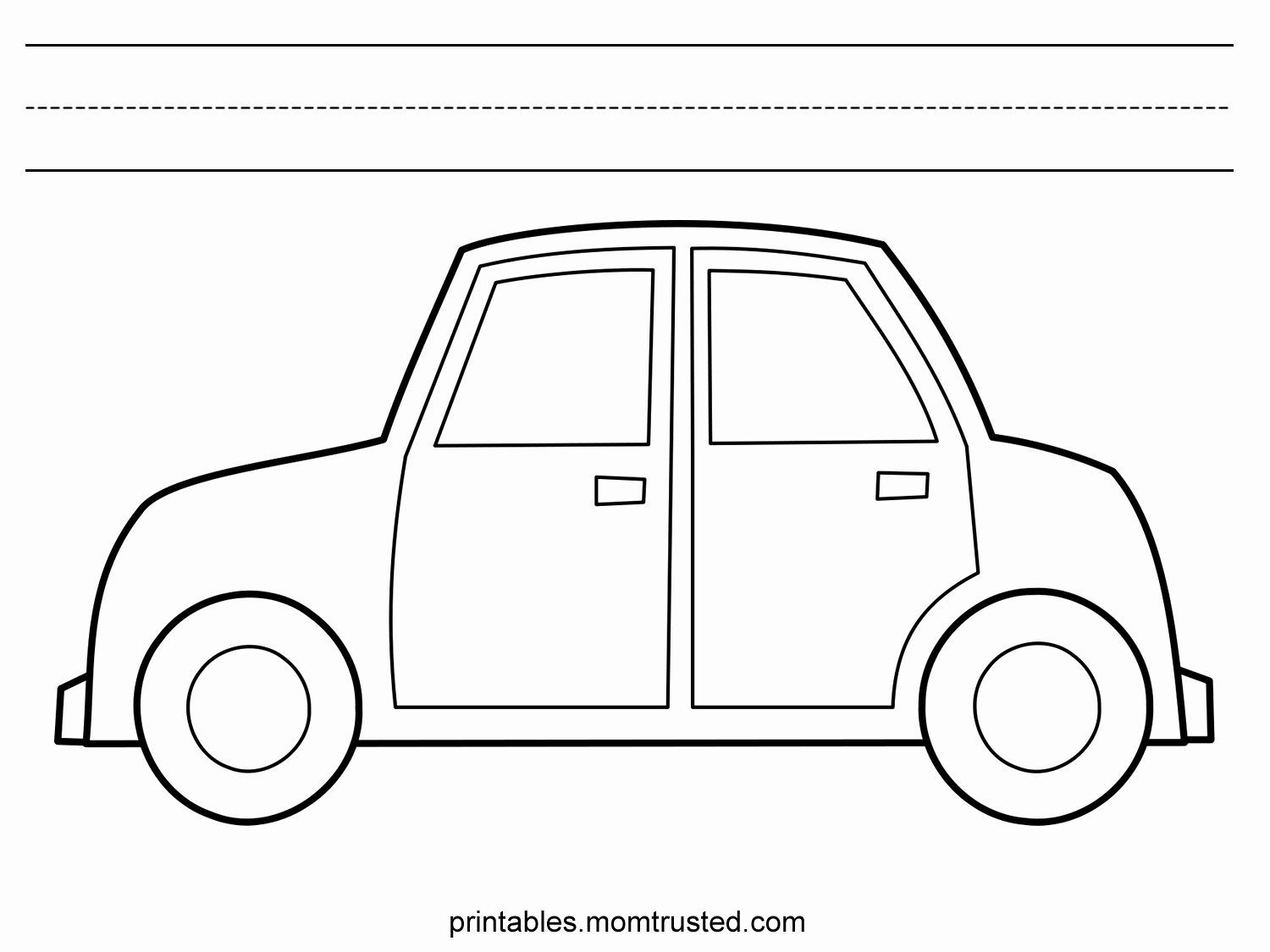 Easy Car Coloring Pages
