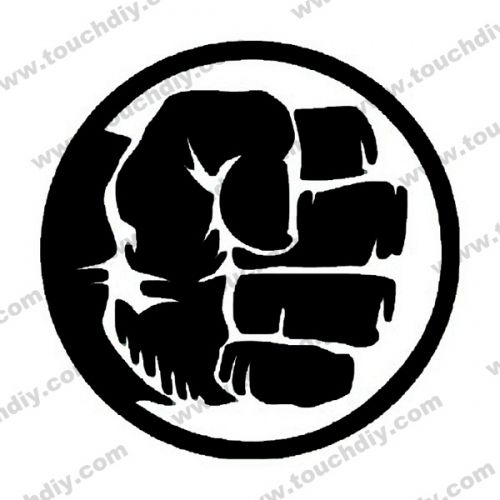 Hulk Fist Logo Ready Design Template Super Heroes Logo Engraving Services Hulk Hulk Tattoo Hulk Symbol