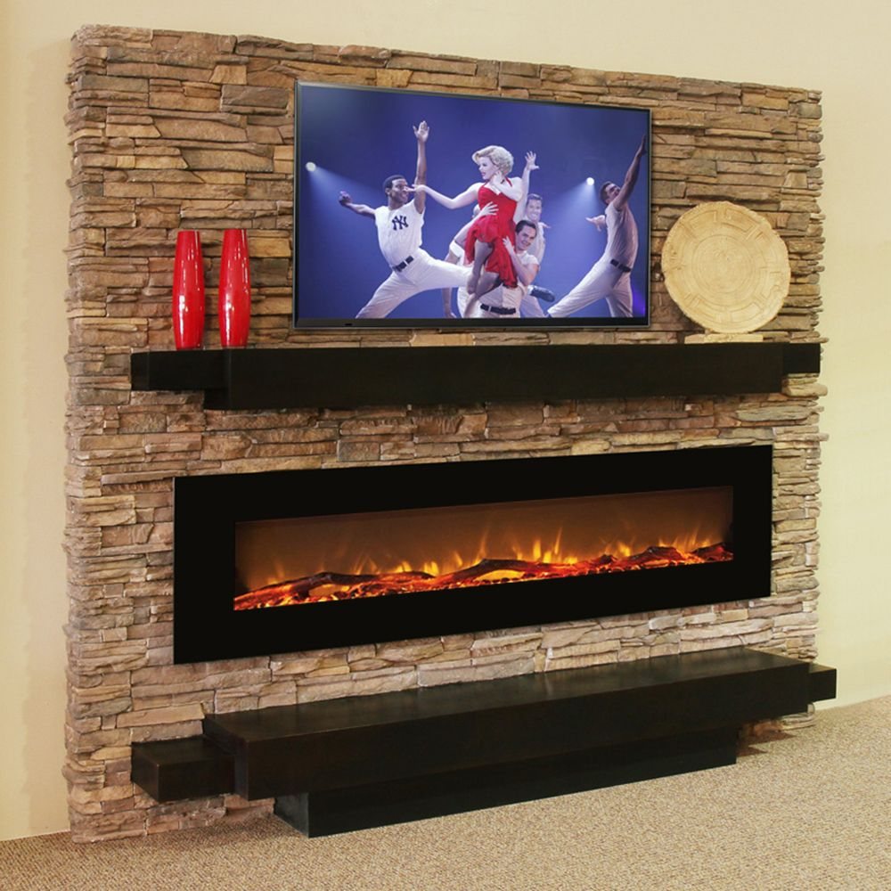 elite quick mounted p inch york fireplace view electric curved black wall flame