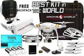 Phantom 3 Executive Kit w/ Long Range System, Nanuk Case, 3 Batteries, Powered 3xCharger, Prop Guards, Filters, 64GB Card & More